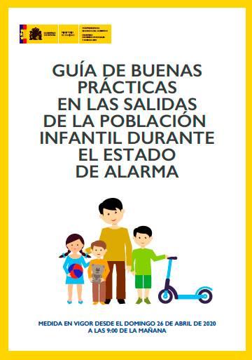 Guía de buenas maneras para las salidas a la calle de los niños durante el estado de alarma
