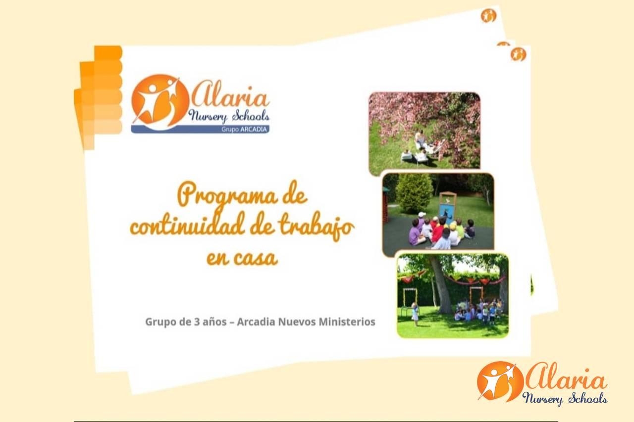 Marco de continuidad formativa a distancia de Alaria Nursery Schools